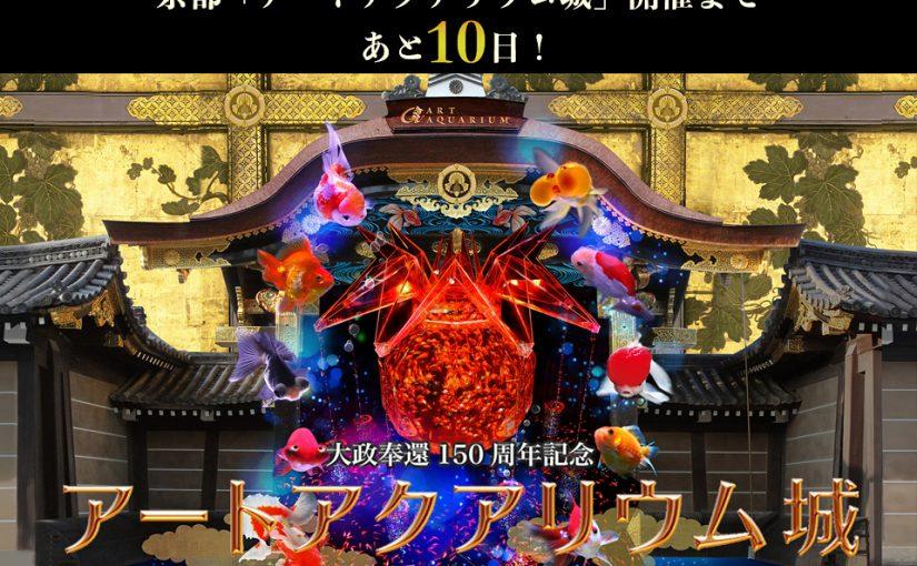 京都・二条城開催、『大政奉還150周年記念 アートアクアリウム城 ~京都・金魚の舞~』開催まで、あと10日!